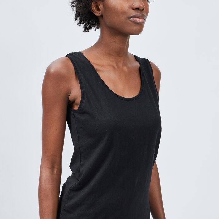Débardeur bretelles larges femme noir
