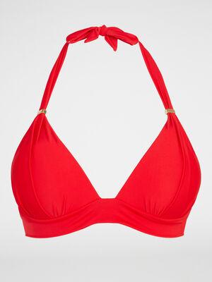 haut de maillot triangle coque CANNOU rouge femme