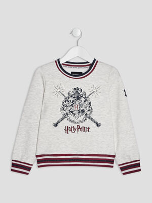 Sweat Harry Potter gris clair fille