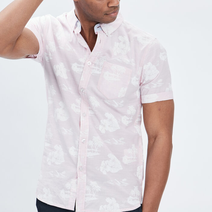 Chemise manches courtes Creeks homme rose