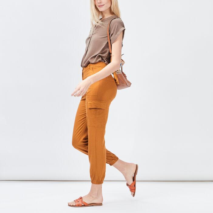 Pantalon battle Creeks femme camel