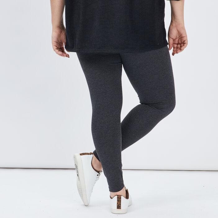 Legging long coton majoritaire femme grande taille gris foncé