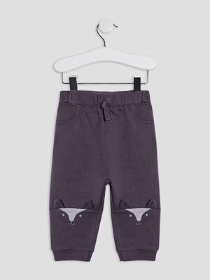 Pantalon jogging gris fonce bebeg