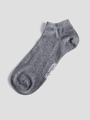 Lot 4 paires de socquettes gris femme