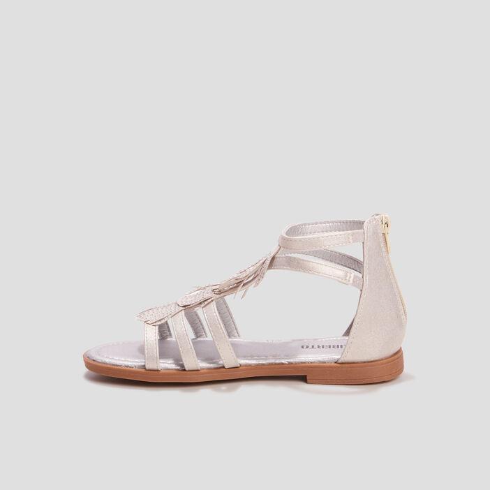 Sandales à franges Liberto fille blanc