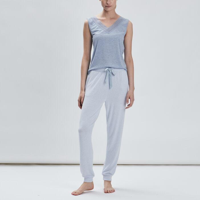 Haut de pyjama femme bleu ciel