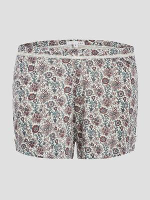 Bas de pyjama short multicolore femme