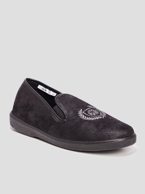 Chaussons gris homme