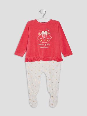 Dors bien avec volants rose fushia bebef
