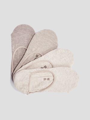 Socquettes protege bas beige