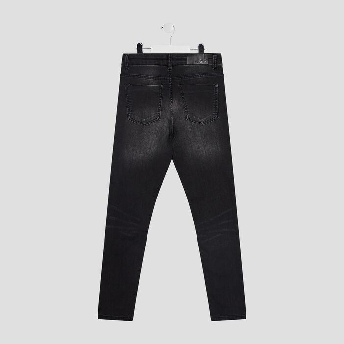 Jeans slim taille standard garçon noir