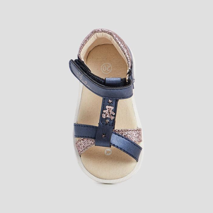 Sandales Lulu Castagnette bébé fille bleu