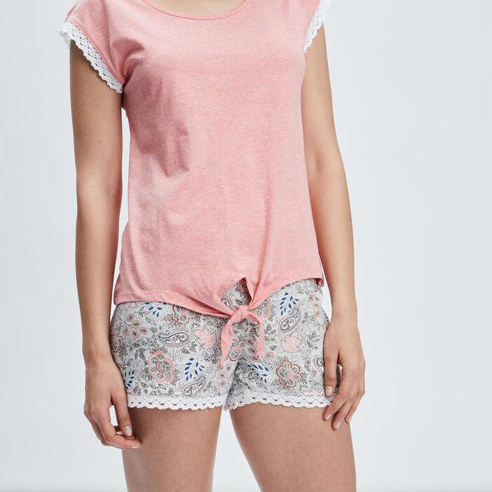 Ensemble pyjama 2 pièces femme rose clair
