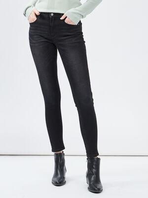 Jeans skinny taille basse denim snow noir femme