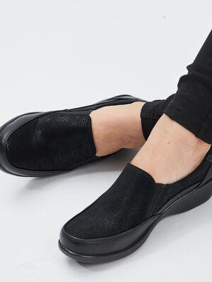 Loafers a talons compenses noir femme