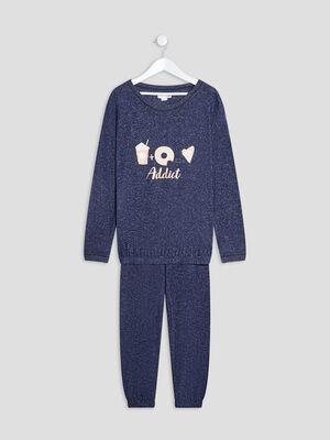 Ensemble pyjama bleu fille