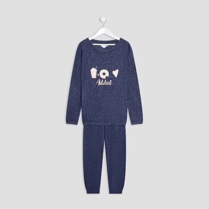 Ensemble pyjama fille bleu