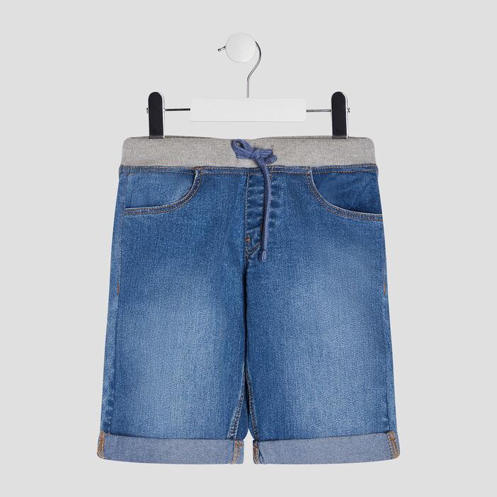 Bermuda droit en jean garçon denim double stone