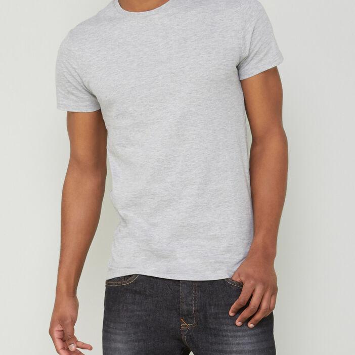 T-shirt manches courtes homme gris