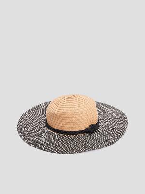 Chapeau de paille multicolore femme