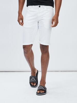 Bermuda droit Liberto blanc homme