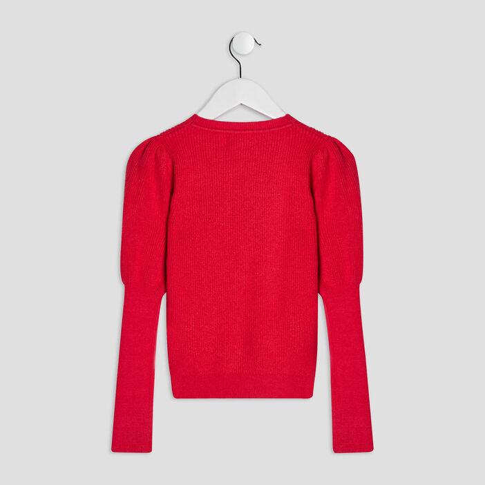 Pull manches bishop Liberto fille rouge