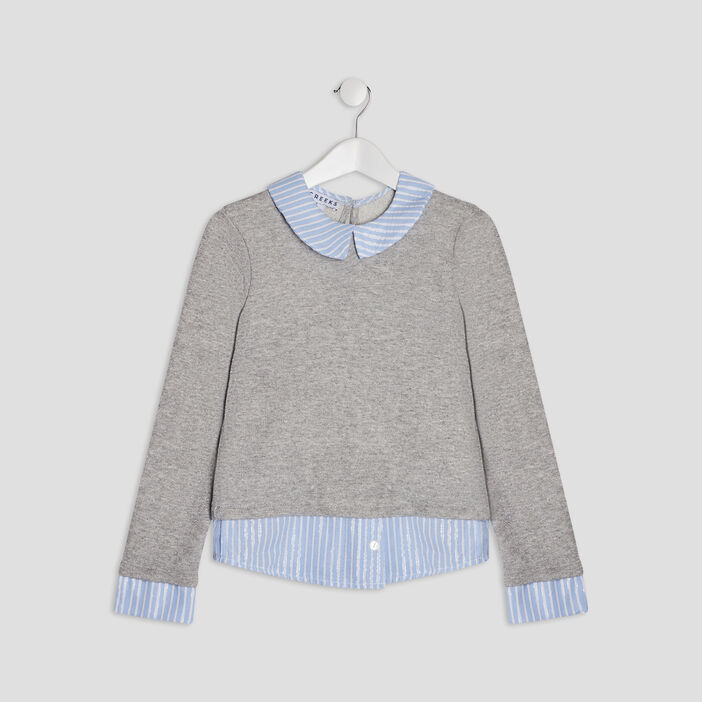 Sweat 2-en-1 Creeks fille gris