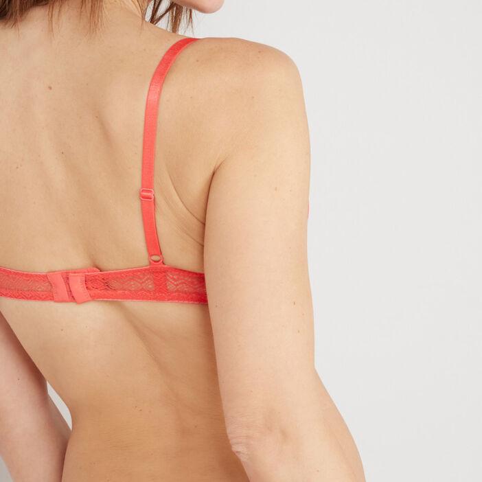 Soutien-gorge corbeille femme orange