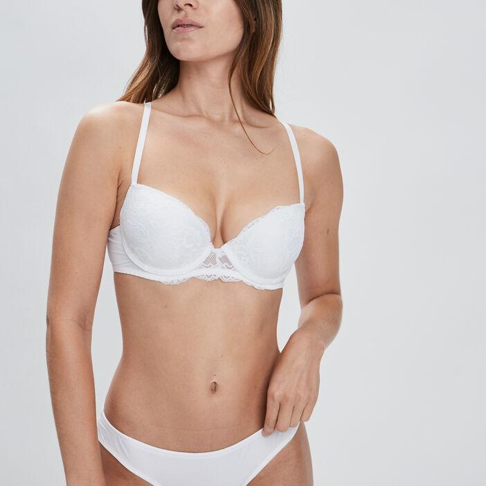 Soutien-gorge balconnet femme blanc