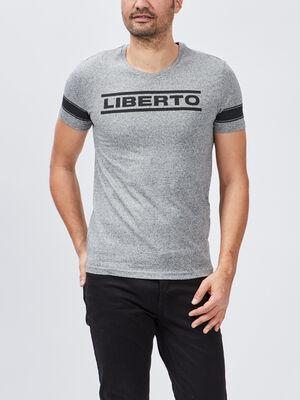 T shirt Liberto gris homme