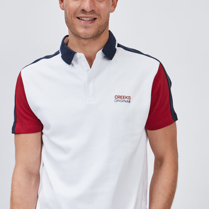 Polo manches courtes Creeks homme blanc