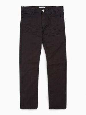 Pantalon droit uni coton majoritaire gris fonce garcon