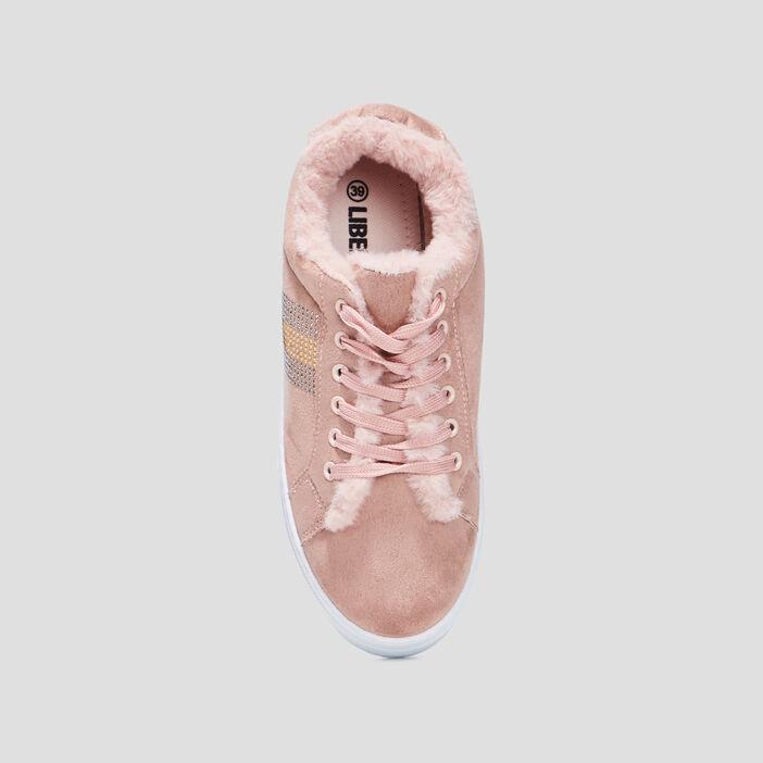 Tennis à lacets Liberto femme rose