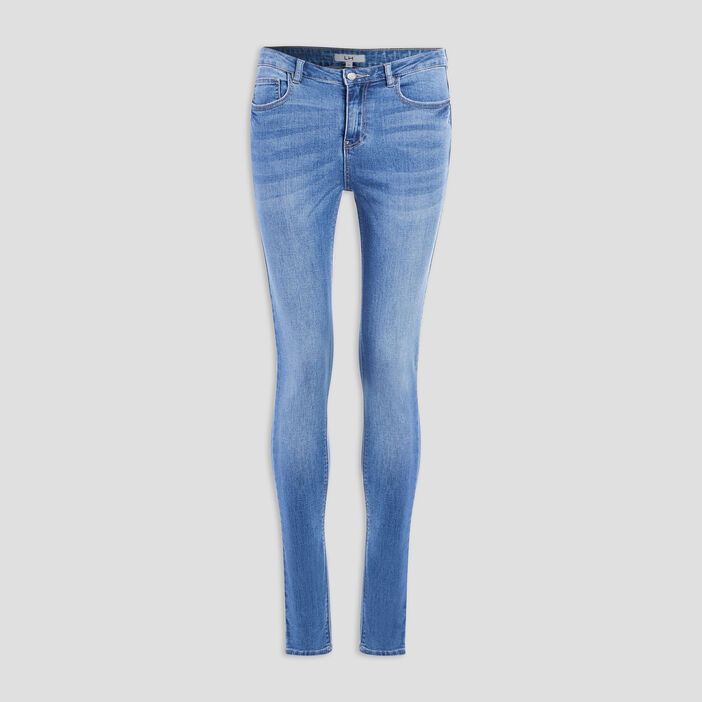Jeans slim taille standard femme denim double stone