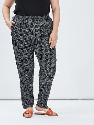 Pantalon droit fluide noir femmegt