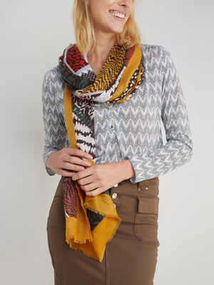 Foulard imprime graphique multicolore multicolore femme