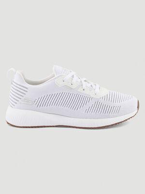 Runnings Skechers BOBS SQUAD blanc femme