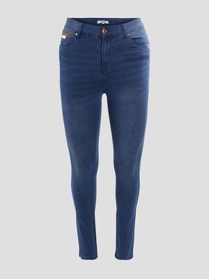 Jeans slim taille elastiquee denim stone femme