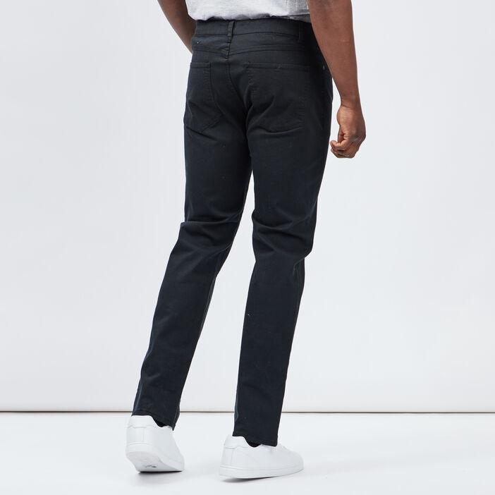 Pantalon regular homme noir