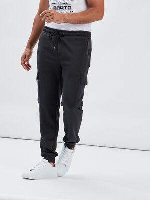 Pantalon jogging battle gris fonce homme