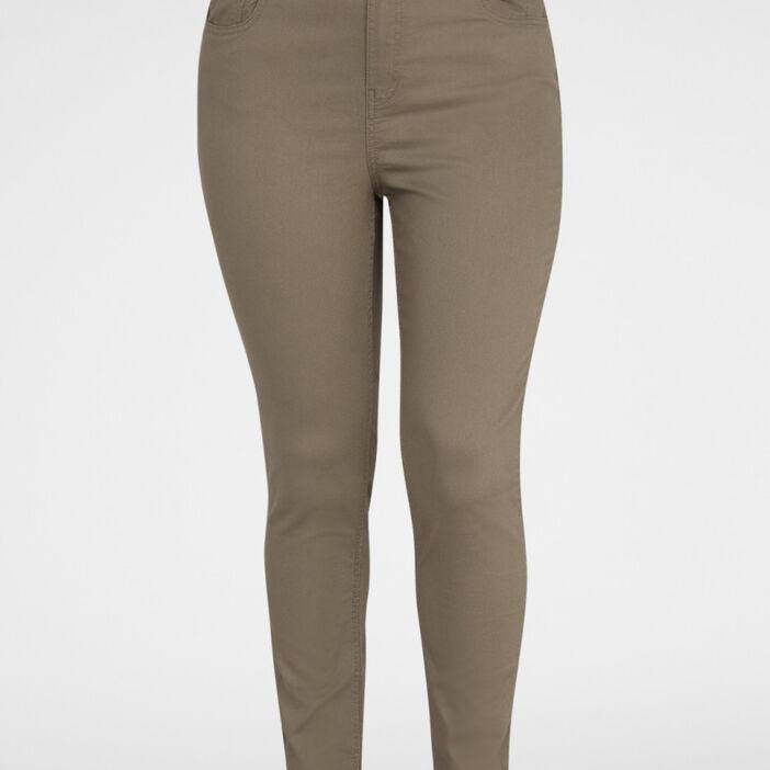 Pantalon slim grande taille femme grande taille vert kaki
