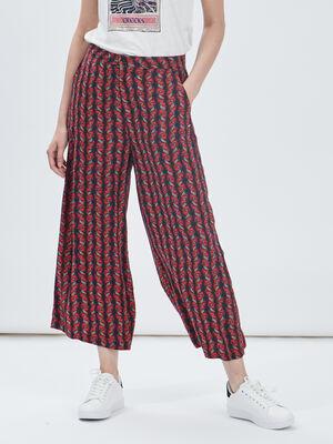 Pantalon large fluide Creeks rouge femme