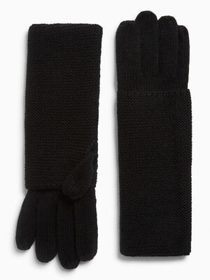 Paire de longs gants noir femme