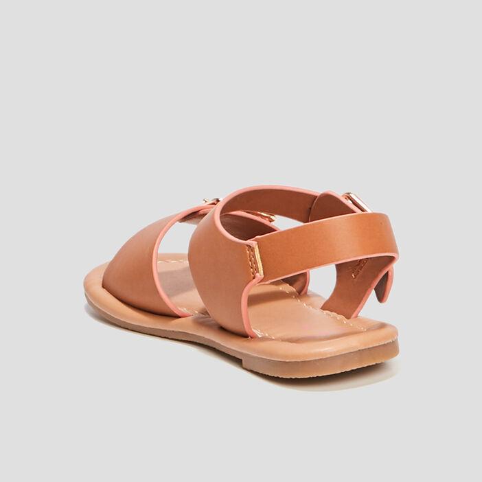 Sandales avec boucles fille marron