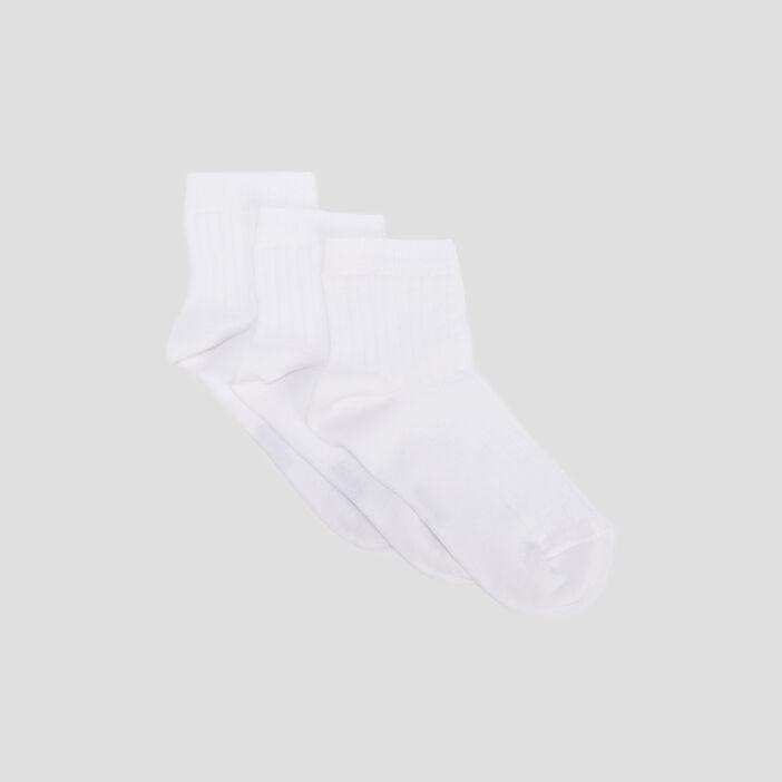 Chaussettes femme blanc