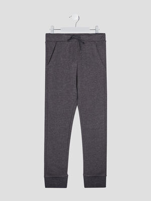 Jogging taille a coulisse gris garcon