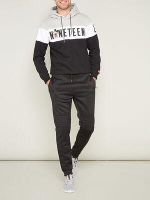 Pantalon de sport uni noir homme
