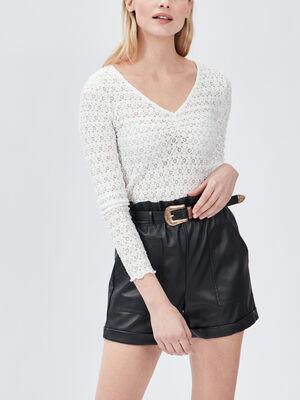 T shirt en dentelle Liberto blanc femme