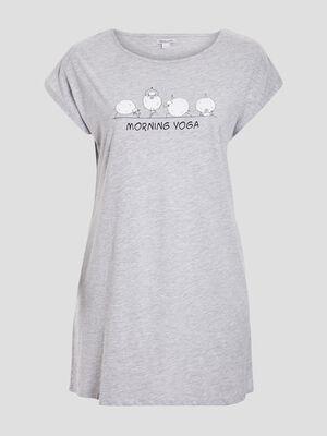 Chemise de nuit grande taille gris femmegt