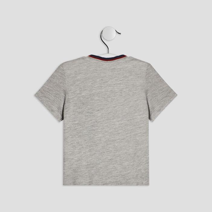 T-shirt manches courtes Creeks bébé garçon ecru
